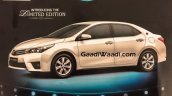 Toyota Corolla Altis Limited Edition side brochure leaked