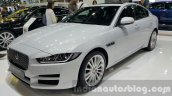 2016 Jaguar XE right front three quarter far at 2015 Thai Motor Expo