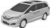 2017 Honda Odyssey front three quarters patent image