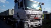 Bharat Benz 3143 based 49-tonne 4943 rigid truck cabin spied