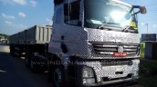 Bharat Benz 3143 based 49-tonne 4943 rigid truck front quarter spied