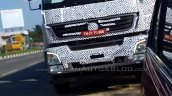 Bharat Benz 3143 based 49-tonne 4943 rigid truck head lamps LED DRL spied