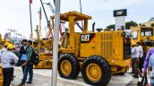 Caterpillar 120K2 side at EXCON 2015