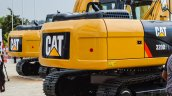 Caterpillar 320D2 L skid steer excavators rear at EXCON 2015
