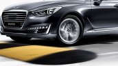 Genesis G90 (Genesis EQ900) front three quarter dynamic unveiled