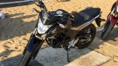 Honda CB Hornet 160R black front quarter launched
