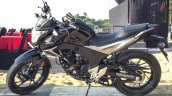 Honda CB Hornet 160R black side launched