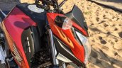 Honda CB Hornet 160R orange with stickering air vents launched
