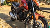 Honda CB Hornet 160R orange with stickering alloy wheel launched