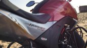 Honda CB Hornet 160R orange with stickering fire graphics launched