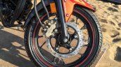 Honda CB Hornet 160R orange with stickering front disc Nissin caliper launched