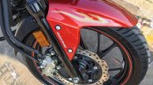 Honda CB Hornet 160R orange with stickering front mud guard launched