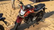 Honda CB Hornet 160R orange with stickering front quarter launched