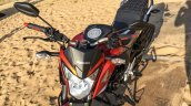 Honda CB Hornet 160R orange with stickering front top launched