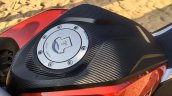Honda CB Hornet 160R orange with stickering fuel tank cap launched