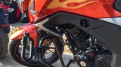 Honda CB Hornet 160R orange with stickering fuel tank decal launched