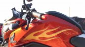 Honda CB Hornet 160R orange with stickering fuel tank graphics launched