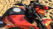 Honda CB Hornet 160R orange with stickering fuel tank shroud launched