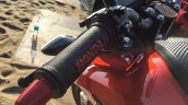Honda CB Hornet 160R orange with stickering handle bar grip launched