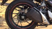 Honda CB Hornet 160R orange with stickering rear alloy wheel launched