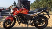 Honda CB Hornet 160R orange with stickering side launched