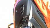 Honda CB Hornet 160R orange with stickering tank fin air vents launched