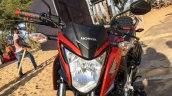 Honda CB Hornet 160R orange with stickering visor launched