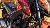 Honda CB Hornet 160R orange with stickering wallpaper launched