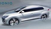 Hyundai Ioniq exterior design sketch