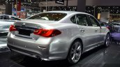 Infiniti Q70 rear three quarters right at 2015 Shanghai Auto Show