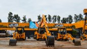 JCB 3DX excavators front at EXCON 2015