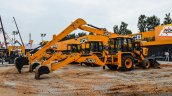 JCB 3DX excavators side at EXCON 2015