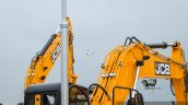 JCB JS205 LC excavator arm at EXCON 2015
