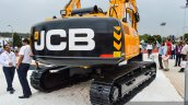 JCB JS205 LC rear quarter at EXCON 2015