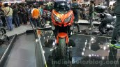 Kawasaki Versys 650 orange front at 2015 Thailand Motor Expo