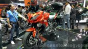 Kawasaki Versys 650 orange front quarter at 2015 Thailand Motor Expo