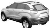 Lada XRay Cross rear quarter patent image leaked
