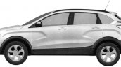 Lada XRay Cross side patent image leaked