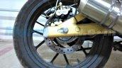 Mahindra Mojo ABS version rear disc spied