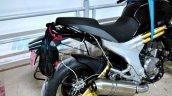 Mahindra Mojo ABS version rear wheel spied
