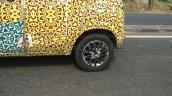Mahindra S101 (XUV100) spyshot rear alloy wheel