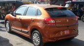 Maruti Baleno with optional bodykit and Ciaz alloys rear quarter Spied