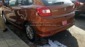 Maruti Baleno with optional bodykit and Ciaz alloys rear three quarter Spied