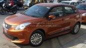 Maruti Baleno with optional bodykit and Ciaz alloys side (2) Spied