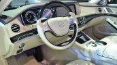 Mercedes Maybach S600 cockpit three quarters at 2015 Frankfurt Motor Show