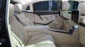 Mercedes Maybach S600 rear seats at 2015 Frankfurt Motor Show