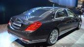 Mercedes Maybach S600 rear three quarters at 2015 Frankfurt Motor Show
