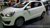 Mitsubishi Mirage facelift front three quarters left close at 2015 Thailand Motor Expo