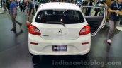 Mitsubishi Mirage facelift rear fascia at 2015 Thailand Motor Expo