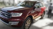 New Ford Endeavour 3.2L Titanium front three quarter snapped